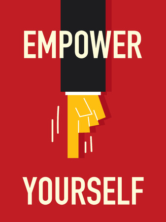 yourself: EMPOWER YOURSELF word