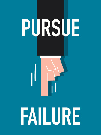 pursue: Word PURSUE FAILURE