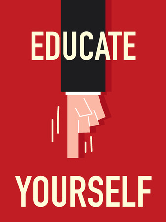 yourself: Word EDUCATE YOURSELF