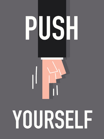Word PUSH YOURSELF