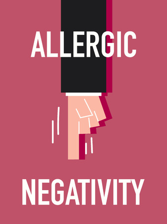negativity: Word ALLERGIC NEGATIVITY