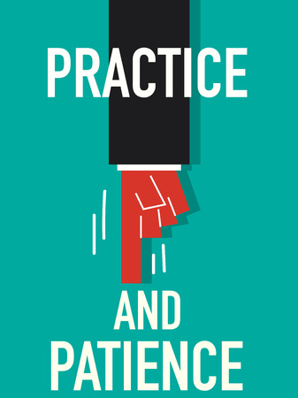 practice: Word PRACTICE AND PATIENCE
