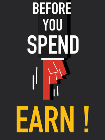 balanced budget: Word BEFORE YOU SPEND