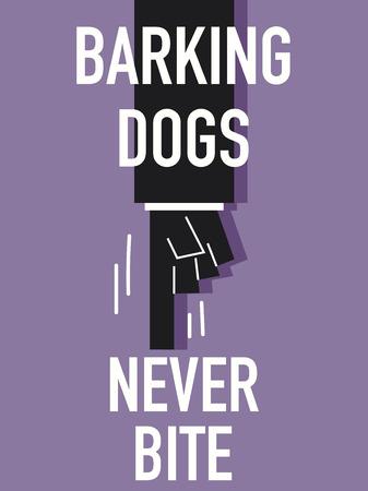 barking: Parola cani che abbaiano Vettoriali