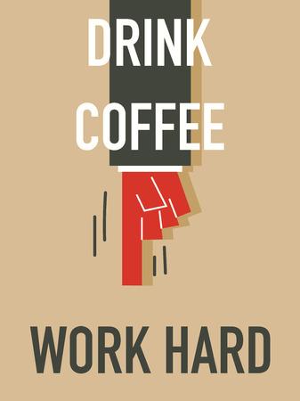 Word DRINK COFFEE Ilustração
