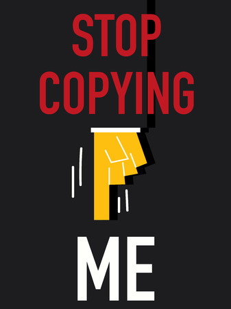 Word STOP COPYING