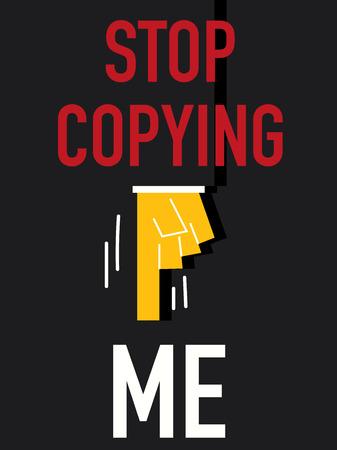 copying: Word STOP COPYING