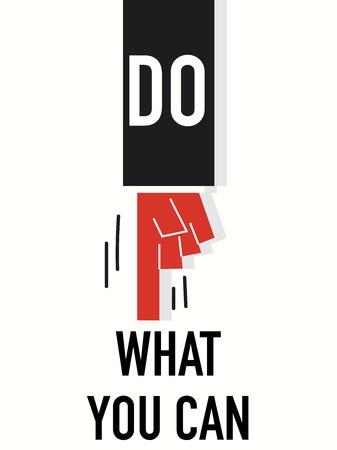 tu puedes: Palabra haga lo que pueda Vectores