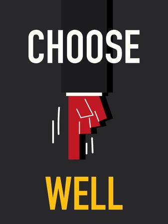 choose: Word CHOOSE WELL