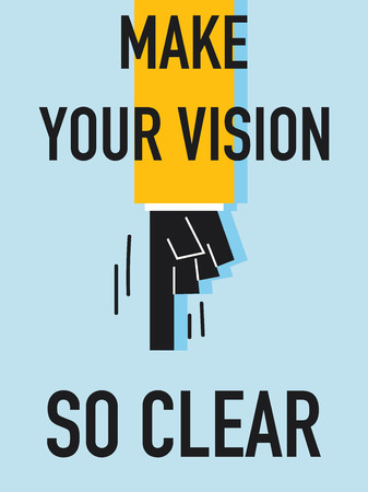 explicit: Word MAKE YOUR VISION SO CLEAR Illustration