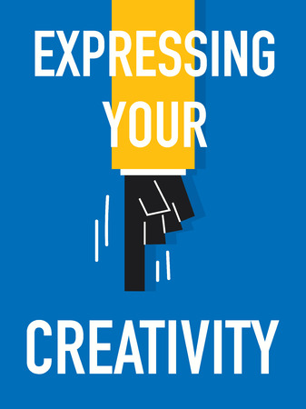 Word EXPRESSING YOUR CREATIVITY