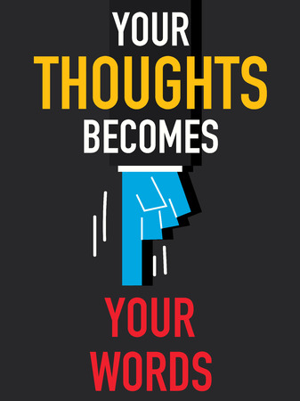 thoughts: Word YOUR THOUGHTS