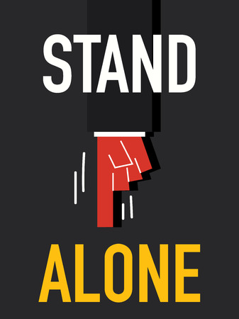 alone: Word STAND ALONE