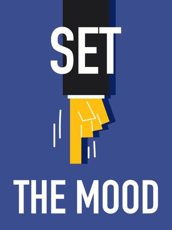 morose: Word SET THE MOOD Illustration