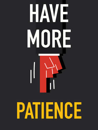 patience: Word HAVE MORE PATIENCE