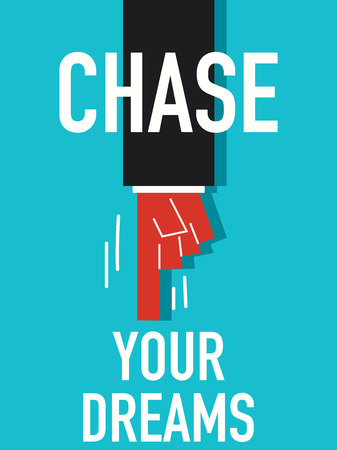 chasing tail: Word CHASE YOUR DREAMS
