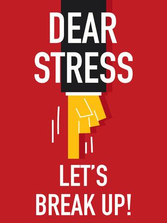bust up: Word DEAR STRESS