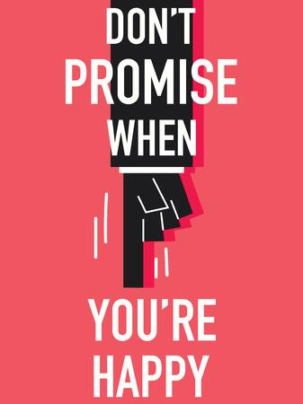 promise: Word DO NOT PROMISE