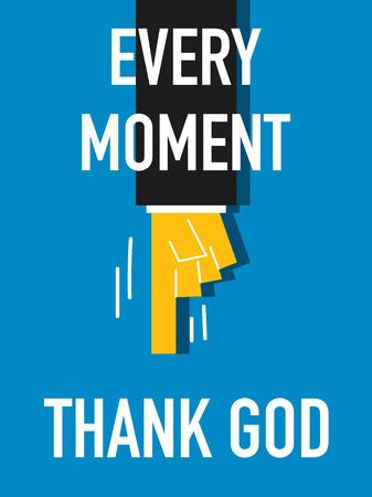 Word THANK GOD Vector