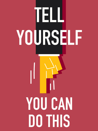 perseverance: Word TELL YOURSELF Illustration