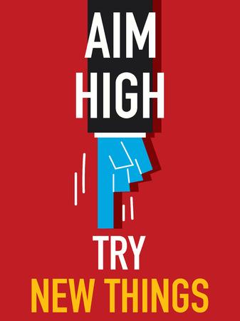 endeavor: Word AIM HIGH