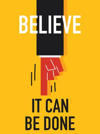 believe: Word BELIEVE Illustration