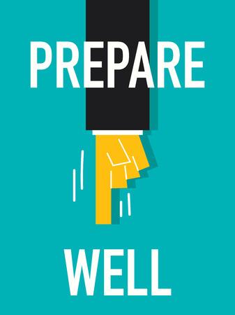 prepare: Word PREPARE WELL