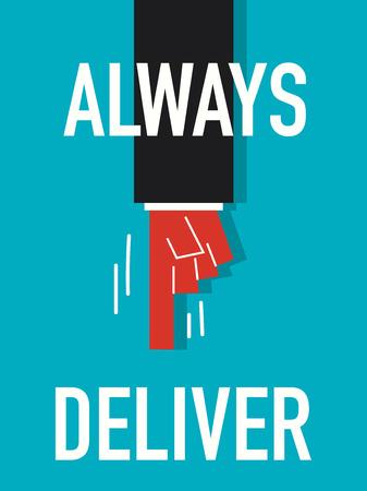 deliver: Word ALWAYS DELIVER