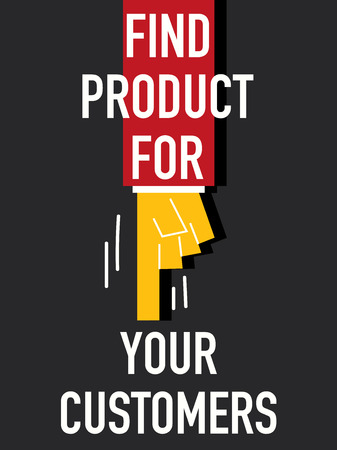 ideally: Word FIND PRODUCT FOR YOUR CUSTOMERS