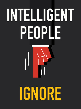 ingenious: Word INTELLIGENT PEOPLE Illustration