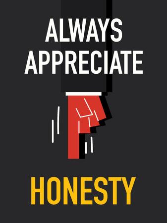 faithfulness: Word ALWAYS APPRECIATE HONESTY