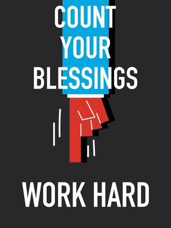 blessings: Word COUNT YOUR BLESSINGS Illustration
