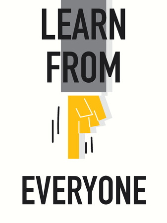 everyone: Words LEARN FROM EVERYONE Illustration