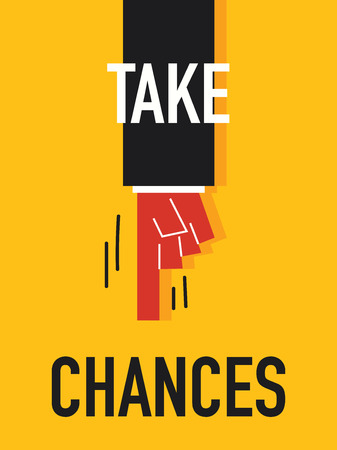 probability: Words TAKE CHANCE Illustration