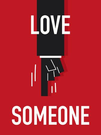 Words LOVE SOMEONE Illustration