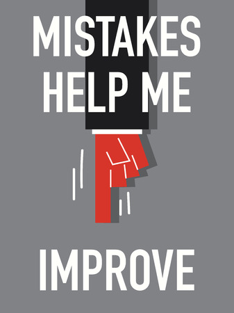 misconception: Words MISTAKES HELP ME IMPROVE