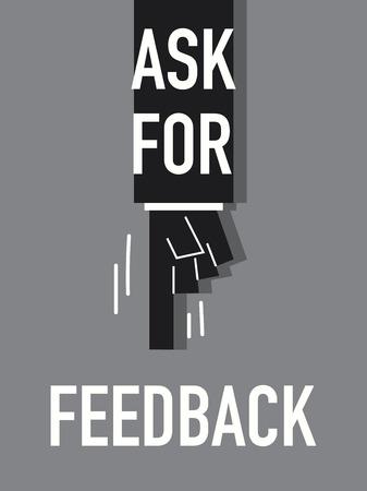 backlash: Words ASK FOR FEEDBACK Illustration