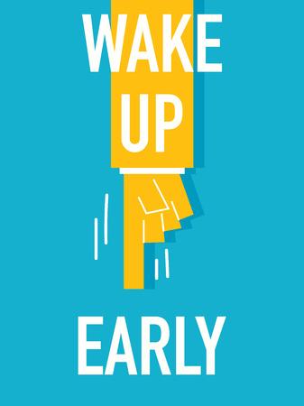 get up: Parole svegliarsi presto