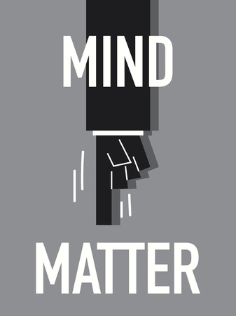 matter: Words MIND MATTER
