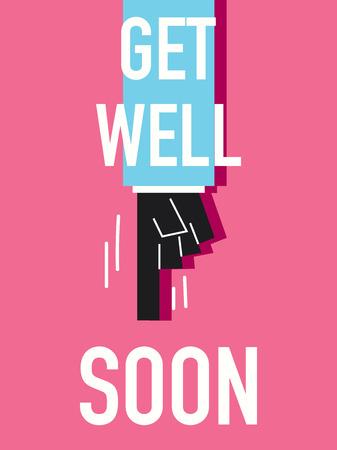 get well soon: Words GET WELL SOON