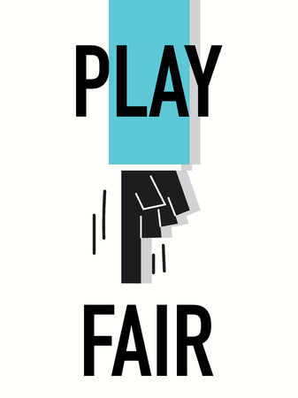 fair play: Words PLAY FAIR Illustration