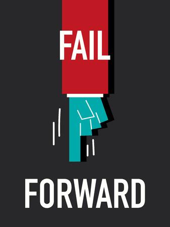 Words FAIL FORWARD