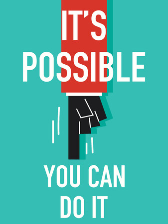 possible: Words POSSIBLE Illustration