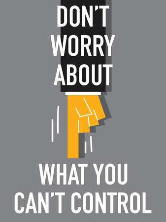 worry: Words DO NOT WORRY Illustration