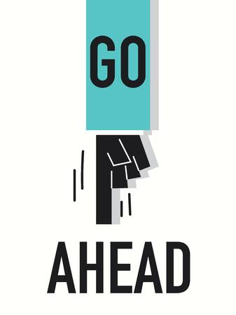 seguir adelante: Palabras GO AHEAD