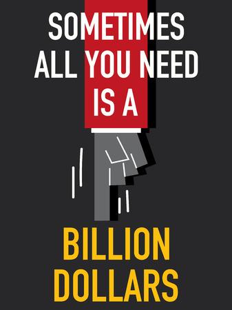 billion: Words BILLION DOLLARS