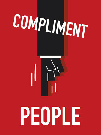 compliment: Words COMPLIMENT PEOPLE