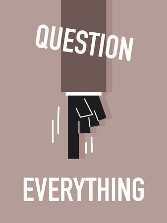 interrogatory: Words QUESTION EVERYTHING Illustration