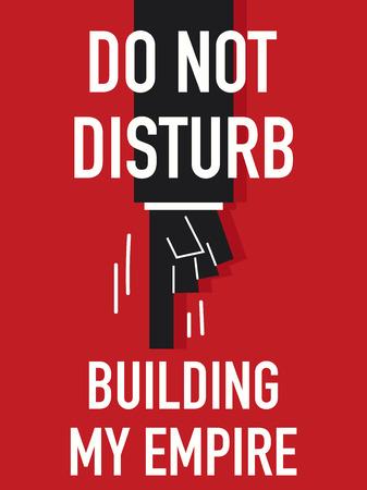 do not disturb: Words DO NOT DISTURB