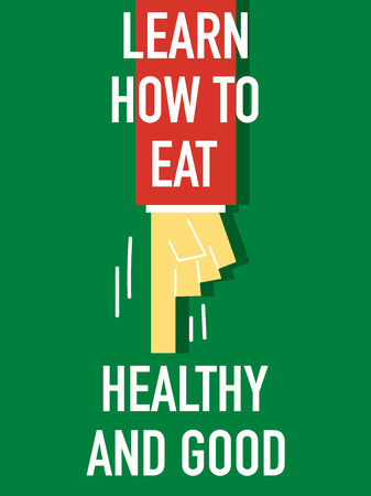 Words LEARN HOW TO HEALTHY Illustration